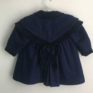 Rothschild Navy Wool & Velvet Dress Coat w/ Hat